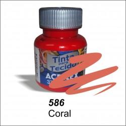 Pintura acrilex 37ml. Coral