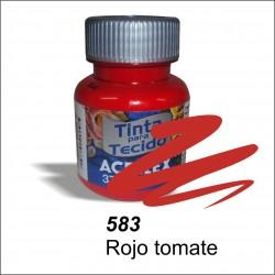Pintura acrilex 37ml. Rojo tomate