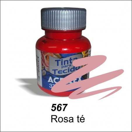 Pintura acrilex 37ml. Rosa té