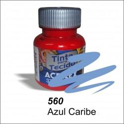 Pintura acrilex 37ml. Azul caribe