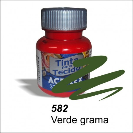 Pintura acrilex 37ml. Verde grama