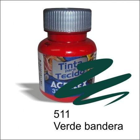 Pintura acrilex 37ml. Verde bandera