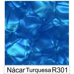 1/10 Acetato color Nácar turquesa R301