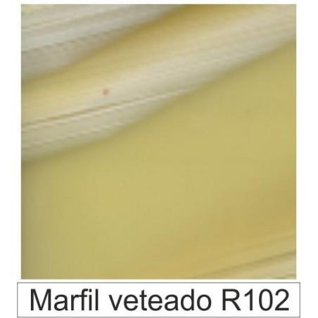 1/10 Acetato color Marfíl veteado R102