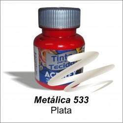Pintura Metálica acrilex 37ml. Plata
