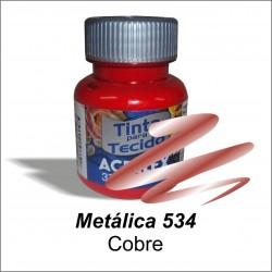 Pintura Metálica acrilex 37ml. Cobre