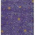 Servilleta decorada Espiral morado.
