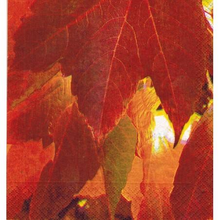 Servilleta decorada Red Leaves