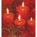 Servilleta decorada Velas Navideñas