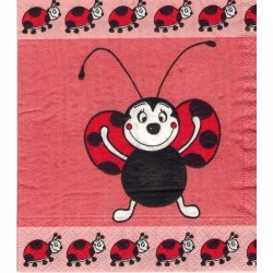 Servilleta decorada Ladybug