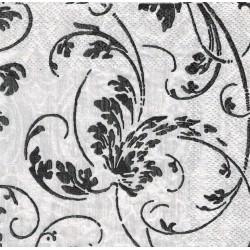 Servilleta decorada Blanca y negra