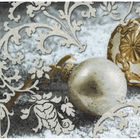 Servilleta decorada Bola navidad