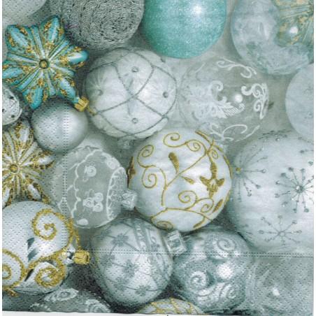 Servilleta decorada Bolas navideñas