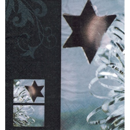 Servilleta decorada estrella navideña