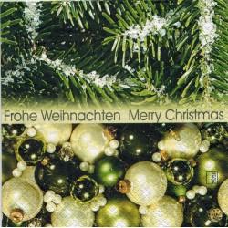 Servilleta decorada Navidad Verde