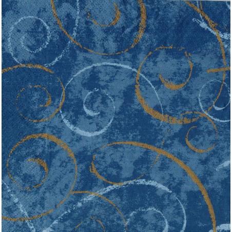 Servilleta decorada Azul