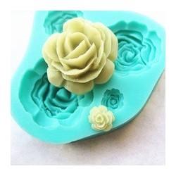 molde silicona 4 flores