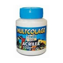 COLA MULTICOLAGE TEXTIL ACRILEX  120ml