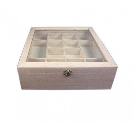 Caja vitrina expositor 32x32x10cm