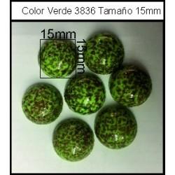 Cabuchón Verde 3836 15 mm(25 Uds)