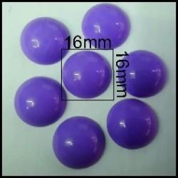 Cabuchón Malva 16 mm(25 Uds)