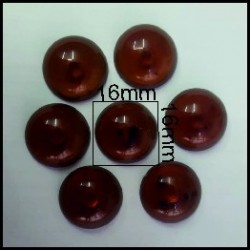 Cabuchón Marron 16 mm(25 Uds)