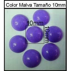 Cabuchón Malva 10 mm(50 Uds)