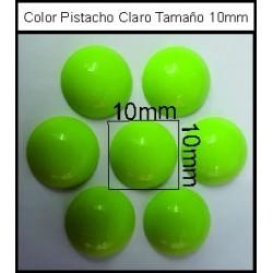 Cabuchón V Pistacho 10 mm(50 Uds)