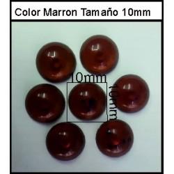 Cabuchón Marron 10 mm(50 Uds)