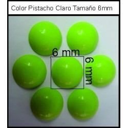 Cabuchón V Pistacho 6 mm(50 Uds)