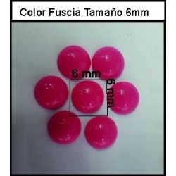 Cabuchón Fuscia 6 mm(50 Uds)
