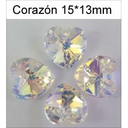 Corazón Swarovski 15*13 mm(6 Uds)