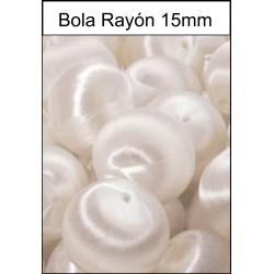 Bola Rayón Blanco 15mm