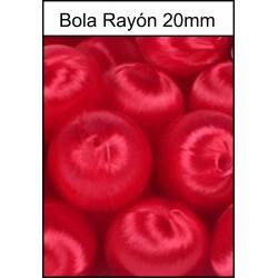 Bola Rayón Roja 20mm
