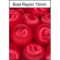 Bola Rayón Roja 15mm