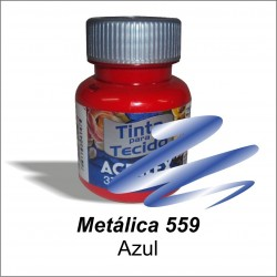 Pintura Metálica acrilex 37ml. Azul